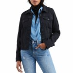 Levi's Original Trucker Jacket Womens-Soft Ultra Black-S