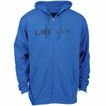 Lib Tech Mens Logo Zip Hoodie-Royal-M