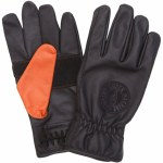 Loser Machine Mens Death Grip Gloves-Black Orange-M
