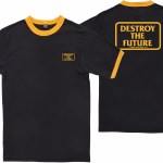Loser Machine Destroy Box Ringer Short Sleeve T Shirt-Black/Gold-S