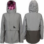 L1 Elissa Snowboard Jacket Womens-Dark Grey/Raven-S
