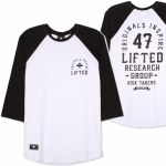 LRG Inspired 3/4 Raglan Shirt-White-XL