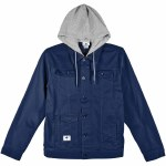 LRG RC Hooded Denim Jacket-Patriot Blue-XL