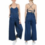 Molly Bracken Womens Woven Jumpsuit-Brut Denim-XS