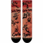 Merge4 Circle Jerk Skank Classic Crew Sock-Red-9/12