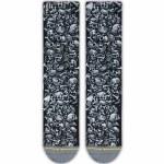 Merge4 Jimbo Phillips Jimbo Skulls Classic Crew Sock-Black/White-9/12
