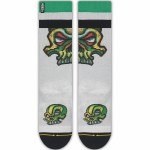 Merge4 Bobby Brown Green Skull Mid-Length Sock-9/12