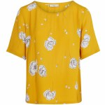 Minimum Elvire Short Sleeve Top Womens-Nugget Gold-34