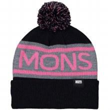Mons Royale  Pom-Pom Beanie Beanie-Black / Pink-OS