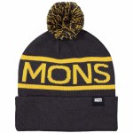Mons Royale  Pom-Pom Beanie Beanie-9 Iron / Gold-OS
