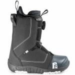 Nidecker Boys Micron Boa Snowboard Boot-Black-5.0