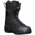 Nidecker Mens Triton Double Boa Snowboard Boot-Black-8.0