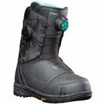 Nidecker Womens Lunar Double Boa Snowboard Boot-Tropical Black-7.0