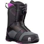 Nidecker Womens Maya Boa Snowboard Boot-Black-10.0