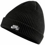 Nike SB Mens Skate Fisherman Beanie-Black/White-OS