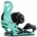Now Bindings Mens Select Pro Snowboard Binding-Aqua Marine-L