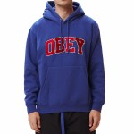 Obey Mens Sports Hood II Fleece-Ultramarine-S