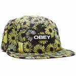 Obey Womens Rapids Hat-Yellow Multi-OS