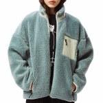 Obey Womens Mesa Sherpa Jacket-Mineral Blue-M
