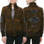 Obey Tunnel Vision Zip Jacket Womens-Olive Multi-M