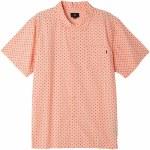 Obey Gavin Short Sleeve Woven Shirt-Coral Multi-S