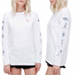 Obey She Long Sleeve T Shirt Womens-White-S