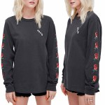 Obey Slauson Rose Pigment Long Sleeve Shirt Womens-Dusty Black-L