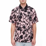 Obey Nate Short Sleeve Woven-Pink Multi-M