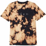 Obey Novel Obey Tie Dye Short Sleeve T Shirt-Black-M