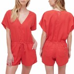 Obey Magdalena Romper Womens-Red-S