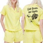 Obey Solas Short Sleeve Shirt Womens-Lemonade-XS