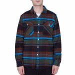 Obey Homebound Woven Long Sleeve-Black Forest Multi-M