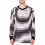 Obey 89 Icon Stripe Box II Long Sleeve T Shirt-Black Multi-XL
