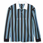Obey Mens Firm Classic Long Sleeve Polo Shirt-Dark Teal Multi-S