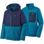Patagonia Mens 3in1 Snowshot Jacket-Classic Navy/Balkan Blue-L