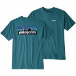Patagonia Mens P 6 Responsibili Tee Short Sleeve T-Shirt-Tasmanian Teal-S