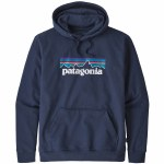 Patagonia Mens P 6 Logo Uprisal Hoodie-Classic Navy-S