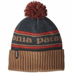 Patagonia Mens Powder Town Beanie-Park Stripe/Mojave Khaki-OS