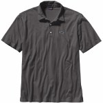 Patagonia Mens Fitz Roy Trout Short Sleeve Polo Shirt-Forge Grey-M