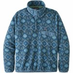 Patagonia Mens Lightweight Synchilla Snap-T Pullover-Honeycomb Stone Blue-M