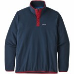 Patagonia Mens Micro D Snap T PO Fleece-New Navy/Classic Red-M