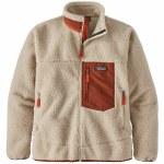 Patagonia Mens Classic Retro X Jacket-Natural/Brown Red-M