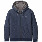 Patagonia Mens P 6  Label French Terry Full Zip Hoodie-Navy Blue-M