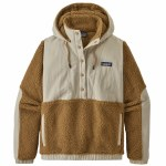 Patagonia Womens Shelled Retro X Pullover-Nest Brown-XS