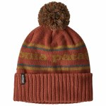 Patagonia Mens Powder Town Beanie-Park Stripe Knit/Spanis Red-OS