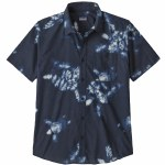 Patagonia Mens Go To Shirt Short Sleeve Button-Up-Sea Turtle Rise: New Navy-S