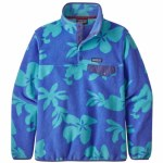 Patagonia Womens LW Synch Snap-T P/O Fleece-Kalani Big Float Blue-S
