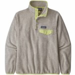 Patagonia Womens LW Synch Snap-T P/O Fleece-Oatmeal Heather/Jellyfish Yellow-S