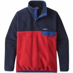 Patagonia Lightweight Synchilla Snap T Pullover-Classic Red-XL