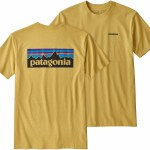 Patagonia p6 Logo Responsibili-Tee Short Sleeve-Surfboard Yellow-M